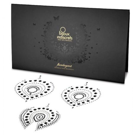 Bijoux Indscrets Flamboyant Body Jewellery Black And Silver