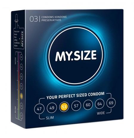 My Size Natural Latex Condom 53 Width 3 PCS