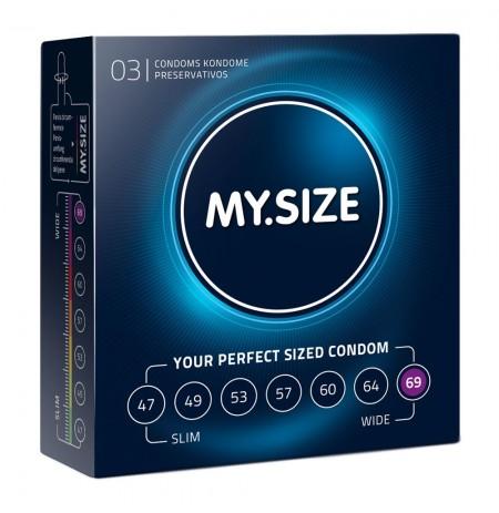 My Size Natural Latex Condom 69 Width 3 PCS